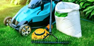 living color spring lawn care rake fertilizer aerator
