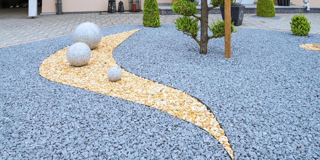 living color garden center design a gracefully modern garden landscape rocks curved lines spheres