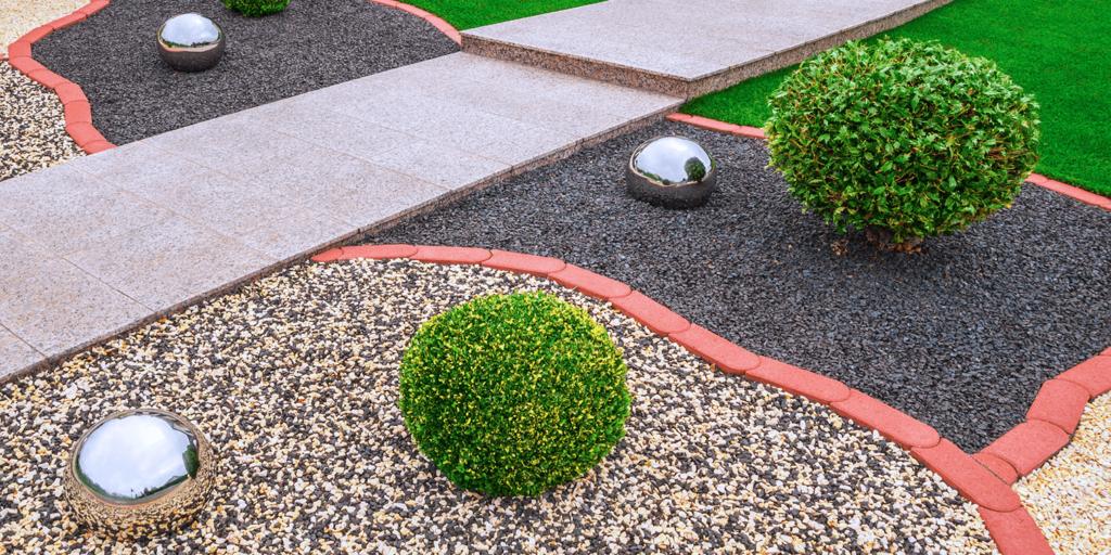 living color garden center design a gracefully modern garden shrubs rocks spheres
