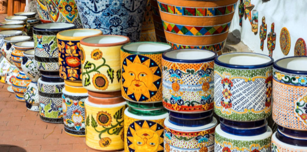 plant pots with designs on them