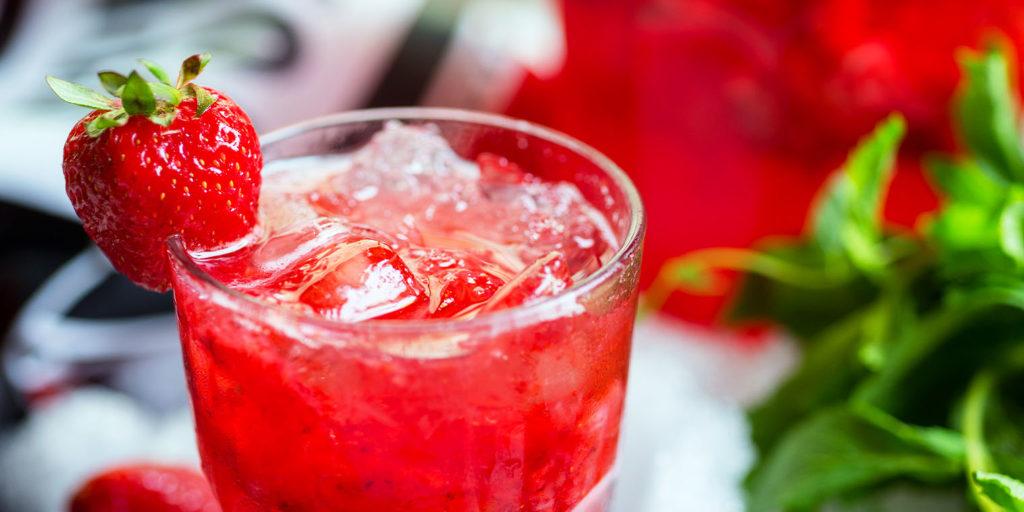 living color garden center strawberry frose drink