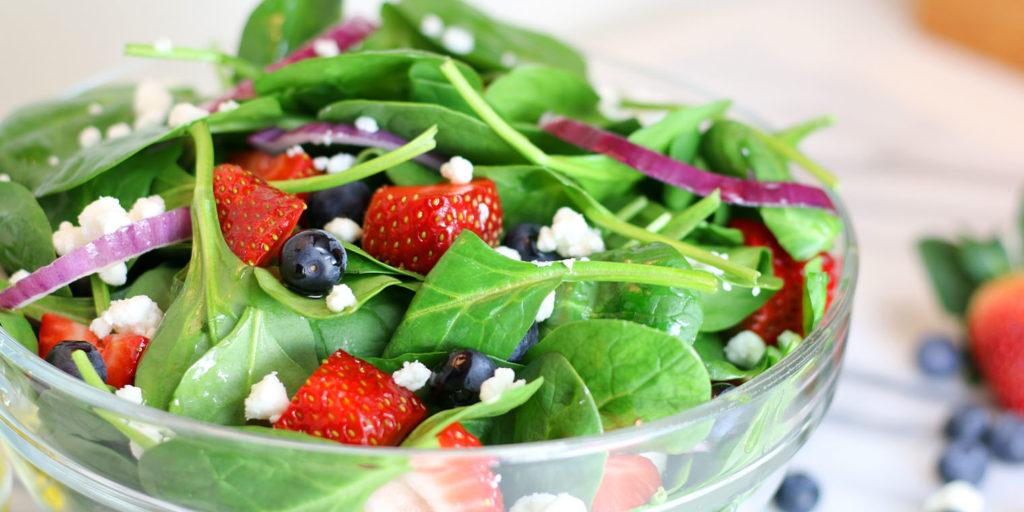 living color garden center spinach strawberry salad